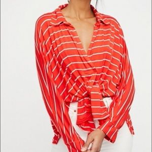 Free People We the Free Cant Fool Me Stripe Top